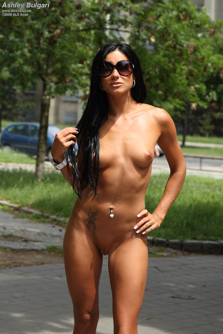Crazy naked women in public